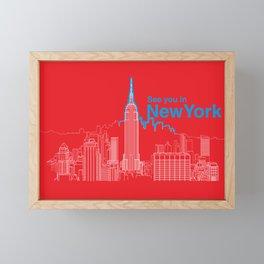 See you in New York Framed Mini Art Print