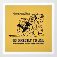 Community Chase Art Print