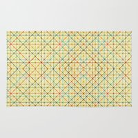 geometry Area & Throw Rugs featuring Geometry by Goncalo Viana