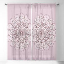 Flower of Life - c11659 Sheer Curtain