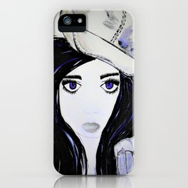 Melinda. Illustrated from the book Tempting Tempo by Author Michelle Mankin. iPhone Case