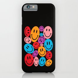 Warped Happiness iPhone Case