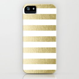 Simply Striped Gilded Palace Gold iPhone Case