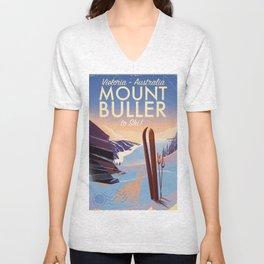Mount Buller Australia Ski resort Unisex V-Neck