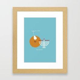 I Love You a Latke. Happy Hanukkah Framed Art Print