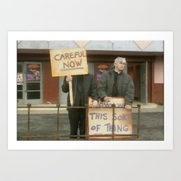 Down With Careful Father Ted Art Print