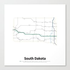 Highways of the USA – South Dakota Canvas Print