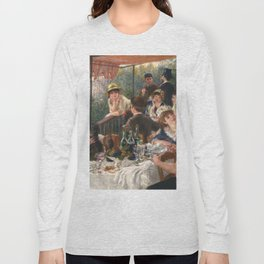 Luncheon of the Boating Party by Renoir Long Sleeve T-shirt