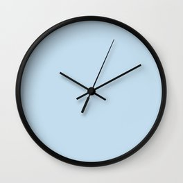 Dunn and Edwards 2019 Curated Colors Island View (Pastel Baby Blue) DE5848 Solid Color Wall Clock