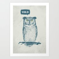 yolo Art Prints featuring YOLO by Balazs Solti