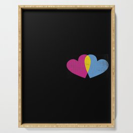 cool saying Pansexuality Pansexual LGBTQ LGBT design Serving Tray
