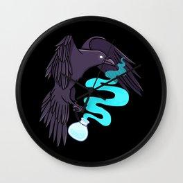 Raven Familiar // Potion Wall Clock
