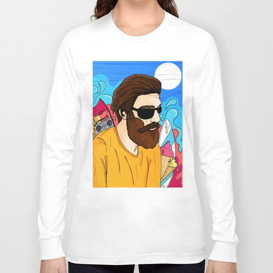Summer Beard Long Sleeve T-shirt
