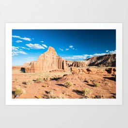 Temple of the sun in Capitol Reef national park, Utah, Usa Art Print