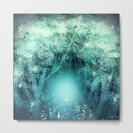 Light Forest Metal Print