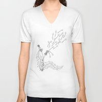 coconut wishes V-neck T-shirts featuring Wishes by TJW Artistic Creations