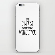 Lorem Ipsum iPhone & iPod Skin