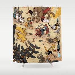 CAT VS MICE Shower Curtain