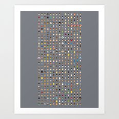 The movie Capsules Art Print