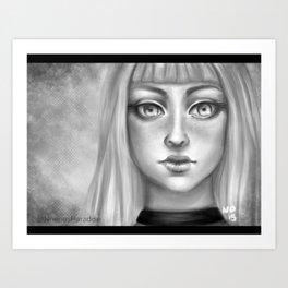 B&W Girl Art Print
