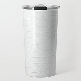 White Crocodile Realistic Skin Print Travel Mug