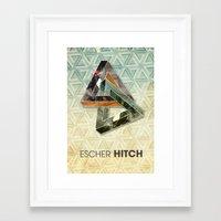 escher Framed Art Prints featuring escher hitch by Vin Zzep