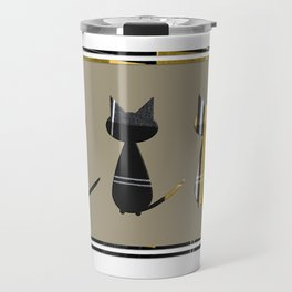 Cats in Tartan - very Scottish Travel Mug