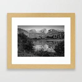 Rocky Mountain Shadows - Colorado Landscape Black and White Framed Art Print