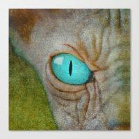 sphynx Canvas Prints featuring Sphynx by BruceStanfieldArtist.DarkSide
