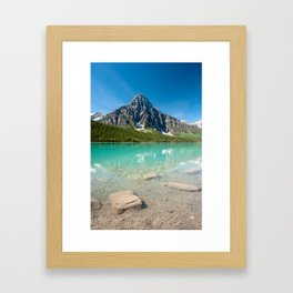 mistaya lake panorama on the icefield parkway in banff national park, alberta, canada Framed Art Print