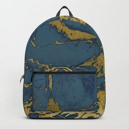 Blue Azul Marble Backpack