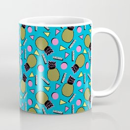 Primo - memphis retro throwback 1980s 80s neon style pop art wacka designs pineapple tropical fruit Coffee Mug