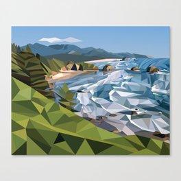 Geometric Cannon Beach Canvas Print
