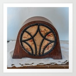 antique intercom used in the kitchens of a historic residence Art Print