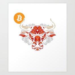 Bitcoin BTC Crypto Hodl Blockchain DeFi Bullrun Art Print