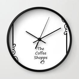The Coffee Shoppe Wall Clock