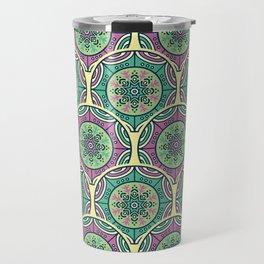 Mosaico Purple Teal Travel Mug
