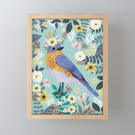 Blue Bird Framed Mini Art Print