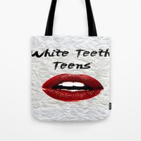 lorde Tote Bags featuring White Teeth Teens // Lorde  by Fan Merch