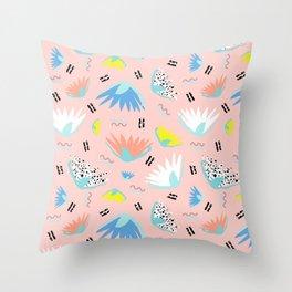 Postmodern Lotus Toss Throw Pillow