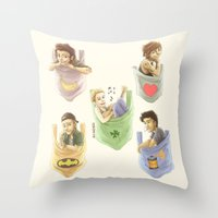 1d Throw Pillows featuring Pocket 1D by Aki-anyway