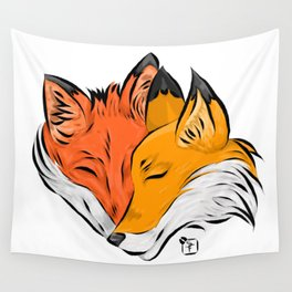 Fox Love Wall Tapestry