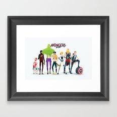 Band Framed Art Print