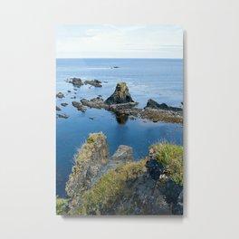 Mountain & Ocean Metal Print
