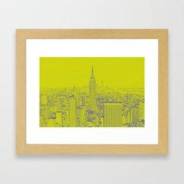 Empire State - Green Framed Art Print