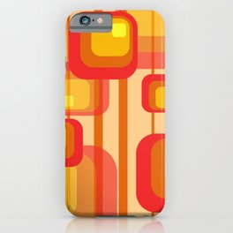 Vintage Design Red orange yellow rectangles iPhone Case