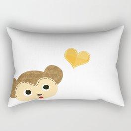 Monkey Baby with Heart Rectangular Pillow