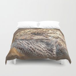 Chameleon With Sinister Facial Expression Duvet Cover