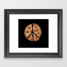 PEACE-A-PIZZA Framed Art Print