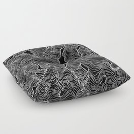 Inverted Enveloping Lines Floor Pillow